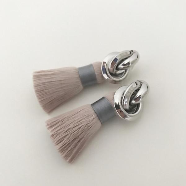 Tassel-Ohrringe silk nude knot