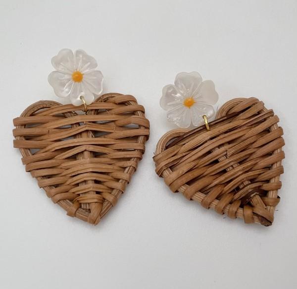 Ohrring Pearl Heart clip
