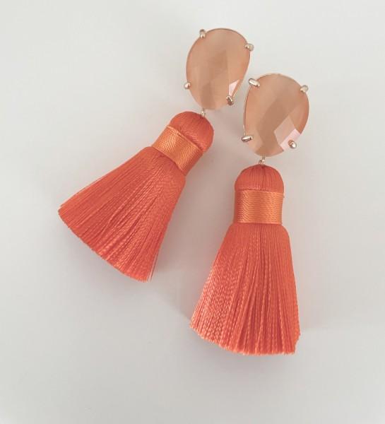 Tassel-Ohrringe orange