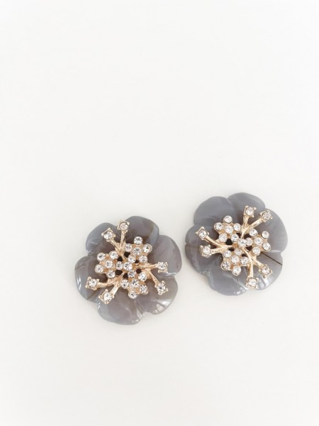 Ohrring flower taupe