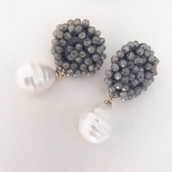 Ohrring Sezane pearl Clip