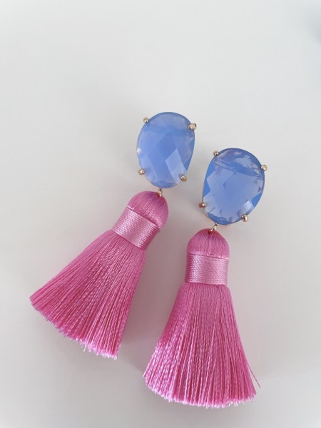 Tassel-Ohrringe pink