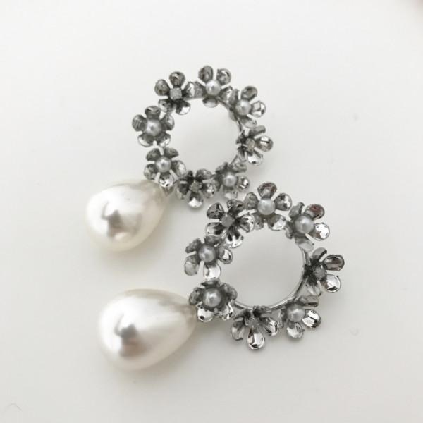 Ohrring Pearl flower