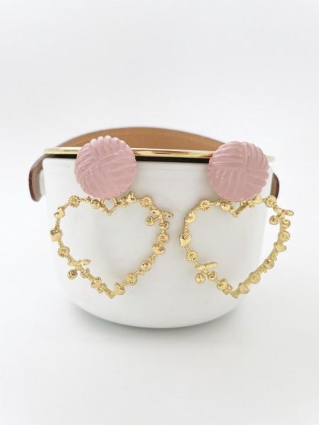 Ohrring rose heart
