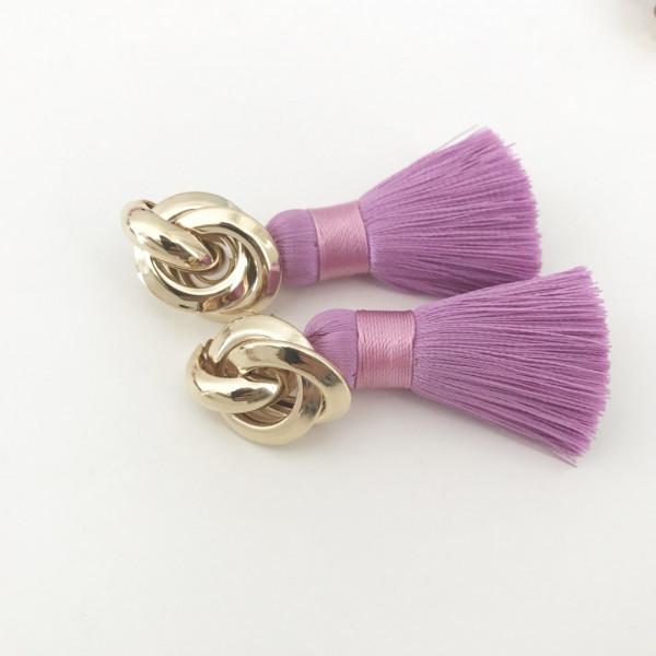 Tassel-Ohrringe lila