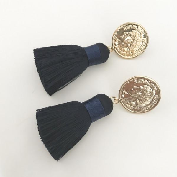 Tassel-Ohrringe blau