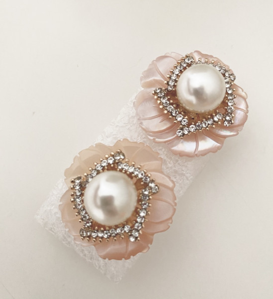 Ohrring Pearl flower clip