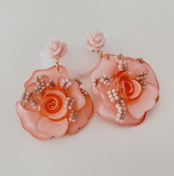Ohrring flower pearl