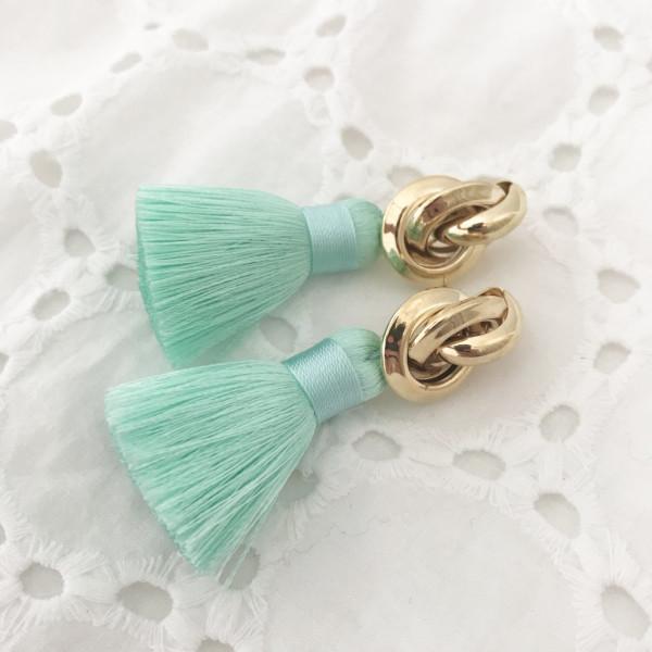 Tassel-Ohrringe silk mint