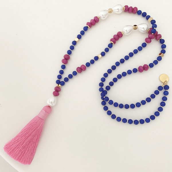 Tassel royalblue pearl