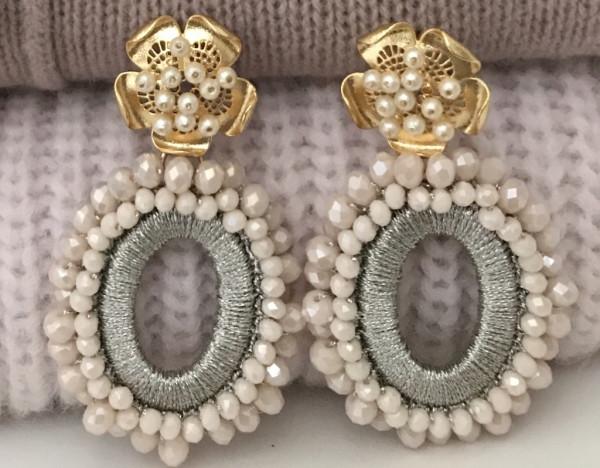 Ohrring Sezane nude pearl
